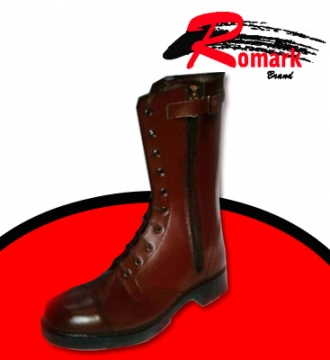 Boot Highleg Brown Commando Pattern
